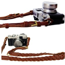 Camera strap-leather-weave-2